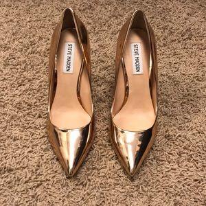 "Steve Madden rose gold 4.25"" heels"